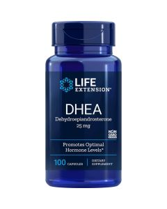 DHEA dehydroepiandrosterone 25 mg Life Extension 100 tabs Life Extension