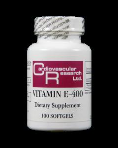 Vitamin E-400 (L Alpha Tocopherol Acetate) 400 IU 100 sgels Ecological Formulas / Cardiovascular Research