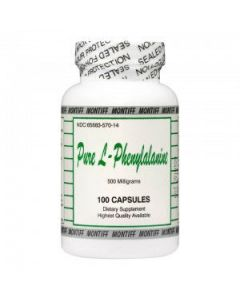 Pure L-Phenylalanine 500mg 100 caps by Montiff