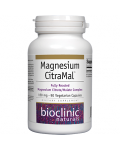 Magnesium Citra-Mal 150mg 90vcaps by Bioclinic Naturals