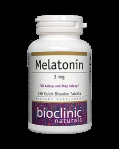 Melatonin 3mg 180 tabs by Bioclinic Naturals