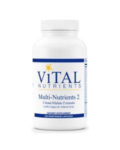 Multi-Nutrients 2 Citrate/Malate Formula 180 vcaps Vital Nutrients