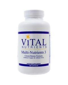Multi-Nutrients 3 Citrate/Malate 180 caps Vital Nutrients