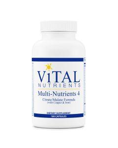 Multi-Nutrients 4 Citrate/Malate Formula 180 caps Vital Nutrients