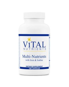 Multi-Nutrients with Iron & Iodine 180 caps Vital Nutrients