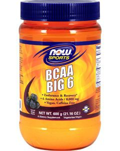 BCAA Big 6 Grape 600g by NOW Sports