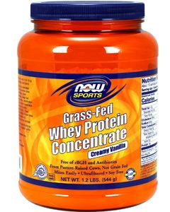 Grass-Fed Whey Protein Vanilla 1.2 lbs by NOW Sports