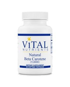 Natural Beta Carotene 25000 IU 90 sgels Vital Nutrients