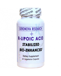 R Lipoic Acid 300mg 60 vcaps GeroNova Research