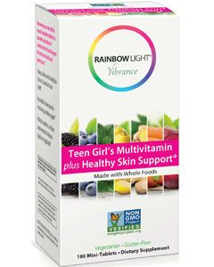 Teen Girl Multivitamin Healthy Skin 180 mini-tabs by Rainbow Light Nutrition