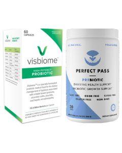 Visbiome Probiotic Capsules + Perfect Pass Prebiotic Powder