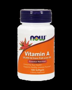Vitamin A 25,000 IU 100 softgels NOW