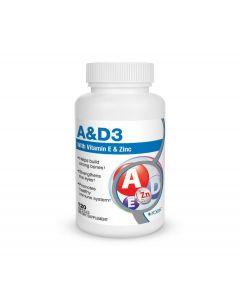 Vitamin A & D3 Formula with Vitamin E and Zinc 120 caps Roex