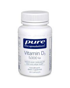 Vitamin D3 5000 iu 120 capsules Pure Encapsulations