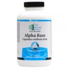 Alpha Base caps W/O Iron 240 caps Ortho Molecular