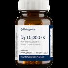D3 10,000 with K2 60 sftgls Metagenics