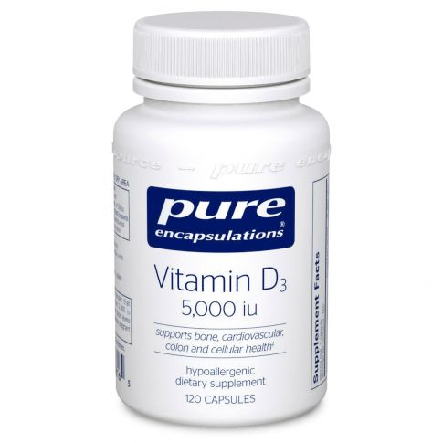 Vitamin D3 5,000IU 120 caps Pure Encapsulations