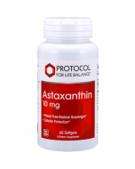 Astaxanthin 10mg 60 gels Protocol For Life Balance